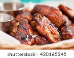 hot and spicy chicken wings... | Shutterstock . vector #430165345