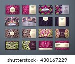 vector vintage visiting card... | Shutterstock .eps vector #430167229