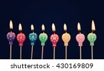 burning colorful candles on... | Shutterstock . vector #430169809