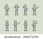 set of medieval knight... | Shutterstock .eps vector #430171291