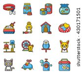 icon set pet vector | Shutterstock .eps vector #430171501