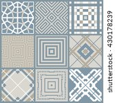 set of 9 seamless geometric... | Shutterstock .eps vector #430178239
