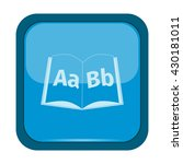 books icon on a blue button | Shutterstock .eps vector #430181011