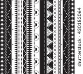 black and white ethnic patterns.... | Shutterstock .eps vector #430182064