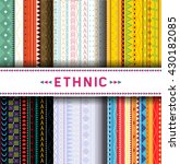 set of six colorful ethnic... | Shutterstock .eps vector #430182085