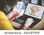 data backup files online... | Shutterstock . vector #430187959