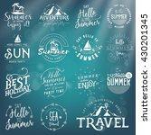 calligraphic travel  sea ... | Shutterstock .eps vector #430201345