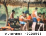 blurred images of people on the ... | Shutterstock . vector #430205995