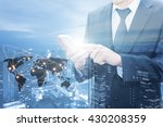 double exposure of businessman... | Shutterstock . vector #430208359