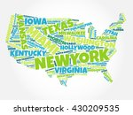 usa map word cloud with most... | Shutterstock .eps vector #430209535