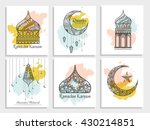 a beautiful greeting card set... | Shutterstock .eps vector #430214851