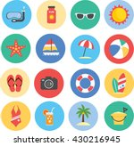 collection of summer icons | Shutterstock .eps vector #430216945