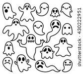 scary ghosts design  halloween... | Shutterstock .eps vector #430222951