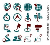location  place icon set | Shutterstock .eps vector #430234297