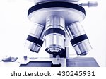 objective lens of microscope... | Shutterstock . vector #430245931