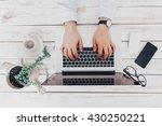 businessman at work. close up... | Shutterstock . vector #430250221