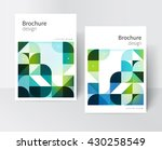 green brochure cover template.... | Shutterstock .eps vector #430258549