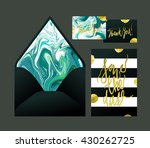 marble wedding print set.... | Shutterstock .eps vector #430262725