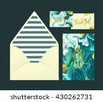 marble wedding print set.... | Shutterstock .eps vector #430262731