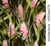 tropical vector pattern with... | Shutterstock .eps vector #430266574