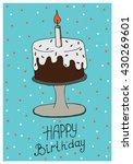 happy birthday greeting card... | Shutterstock .eps vector #430269601