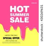 hot summer sale. melting ice...   Shutterstock .eps vector #430269631