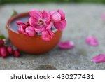 Hibiscus Tea In Ceramic Cup...