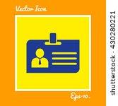 identity card icon. eps 10.