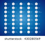 olympic sports vector icons.... | Shutterstock .eps vector #430280569