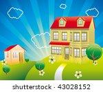 beautiful day vector | Shutterstock .eps vector #43028152