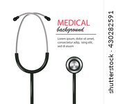 doctor realistic stethoscope.... | Shutterstock .eps vector #430282591