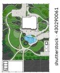 landscaping master plan  3d... | Shutterstock . vector #430290061