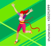 marathon finish line running... | Shutterstock . vector #430291999