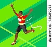 marathon finish line afro... | Shutterstock . vector #430292035