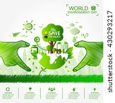 world environment day greeting... | Shutterstock .eps vector #430293217