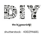 do it yourself concept with... | Shutterstock .eps vector #430294681