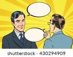 two businessmen dialogue... | Shutterstock .eps vector #430294909