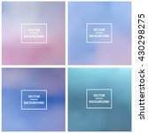 abstract gradient set colorful... | Shutterstock .eps vector #430298275
