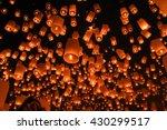 floating lantern  yi peng... | Shutterstock . vector #430299517