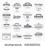 retro creative vintage labels... | Shutterstock .eps vector #430300531