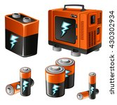the batteries and generator....   Shutterstock .eps vector #430302934