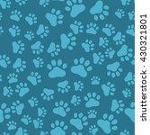 dog paw print seamless  anilams ... | Shutterstock .eps vector #430321801