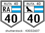 route 40 road sign located in... | Shutterstock . vector #43032607