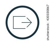 vector exit icon
