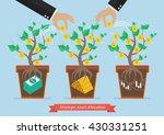 strategic asset allocation....   Shutterstock .eps vector #430331251
