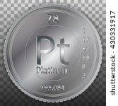 platinum platin coin  element...   Shutterstock .eps vector #430331917
