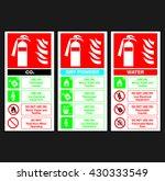 fire extinguisher color code... | Shutterstock .eps vector #430333549