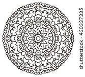symmetrical circular pattern... | Shutterstock .eps vector #430337335