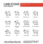 set of modern vector plain line ... | Shutterstock .eps vector #430337947