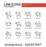 set of modern vector plain line ... | Shutterstock .eps vector #430337947